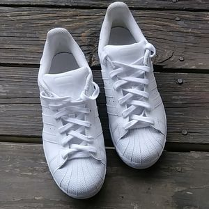 Adidas Shell Toe White Sneakers Size 8